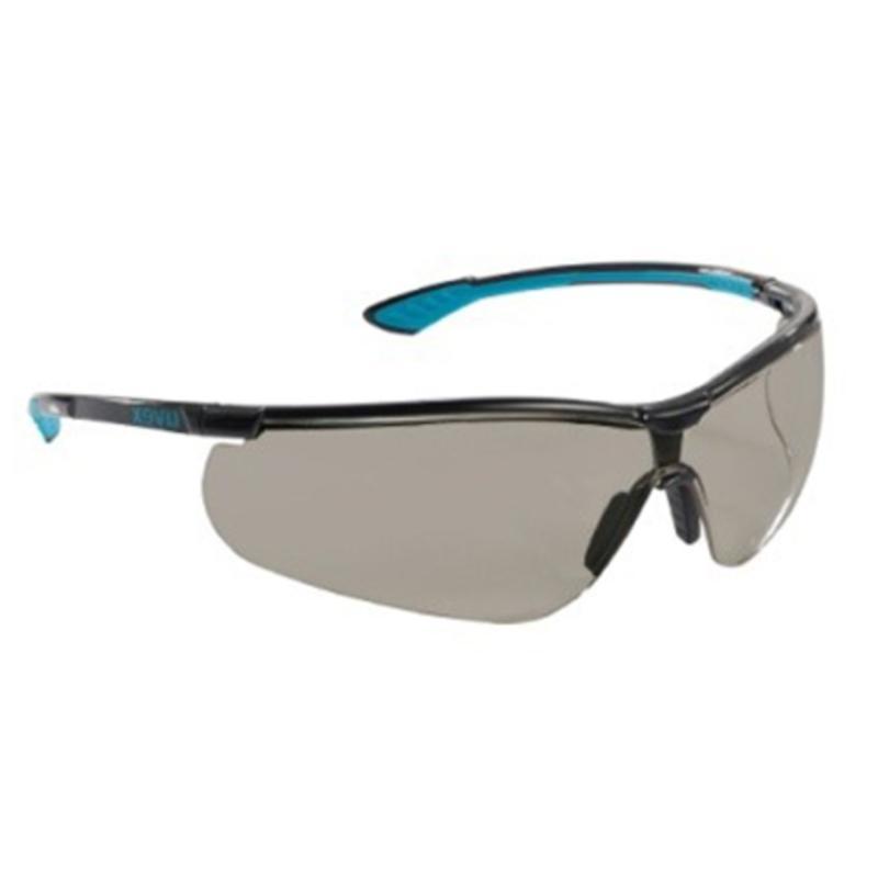 Sikkerhedsbrille, med tonet linse, ridsefast, UVEX